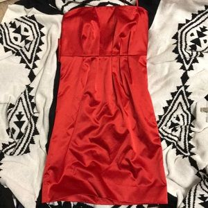Used New York & Co size 4 red strapless dress